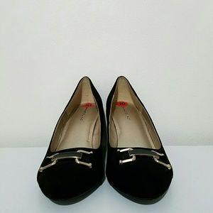 Bandolino Shoes - Bandolino Womens Wedge Heels Suede Pumps Size 10